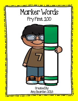 Sight Words- Fry 1st 100- Marker Words