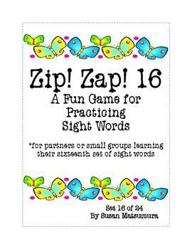 Sight Words Fun: Zip! Zap! 16