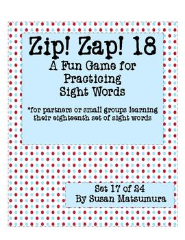 Sight Words Fun: Zip! Zap! 18
