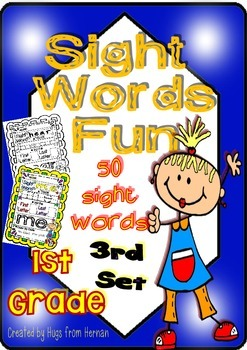 Sight Words Fun in First Grade - Set 3 (50 words - B&W and