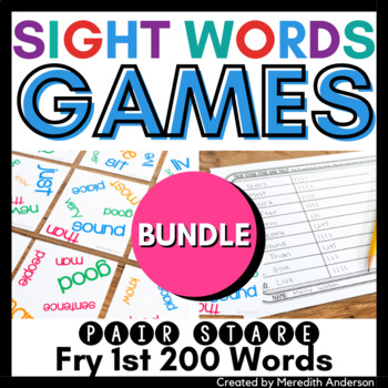 Sight Words Game: Pair Stare Fry first two hundred words B