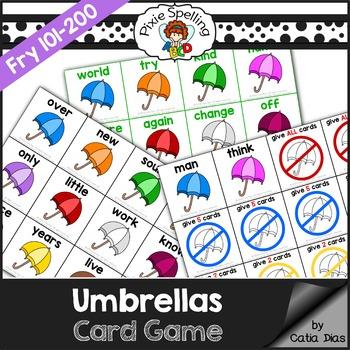 Sight Words Game - Umbrellas