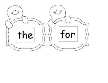 Sight Words Gingerbread Man