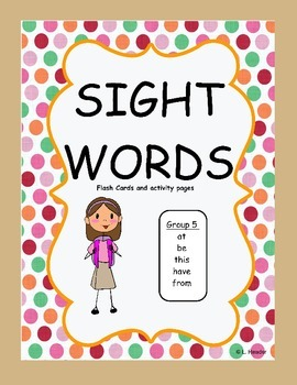 Sight Words Group 5 Package
