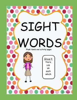 Sight Words Group 9 Package