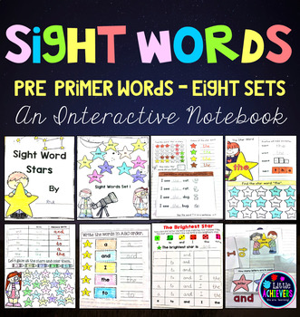 Sight Word Interactive Notebook - Pre-Primer Words