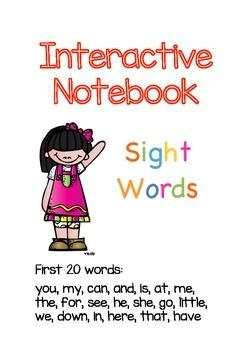 Sight Words Interactive Notebook (Kindergarten-1st Grade)