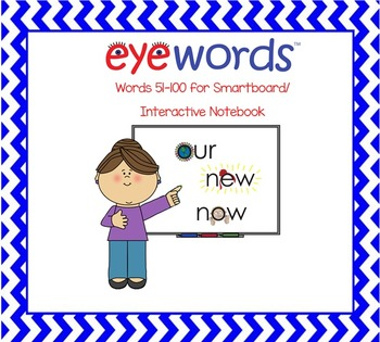 Sight Words-Interactive Notebook/Smartboard, Eyewords Word