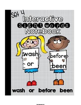Sight Words Interactive Notebook Second Grade List Set 4 -