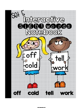 Sight Words Interactive Notebook Second Grade Set 5 (off,