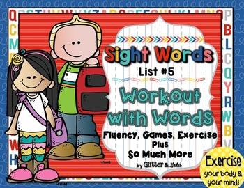 Sight Words List 5 BRAIN-ercises, Games, Flashcards & SO M
