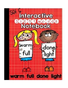 Sight Word Interactive Notebook Third Grade List Set 6 (wa