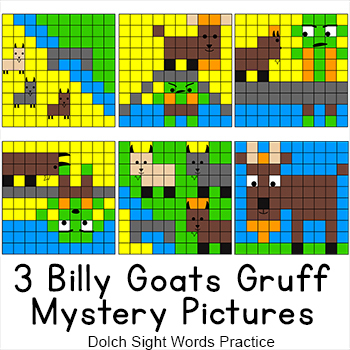 Three Billy Goats Gruff Sight Words Hidden Pictures