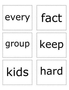 Sight Words- Orange List