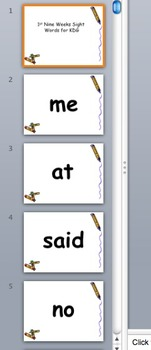 Sight Words PPT * Beginning Words