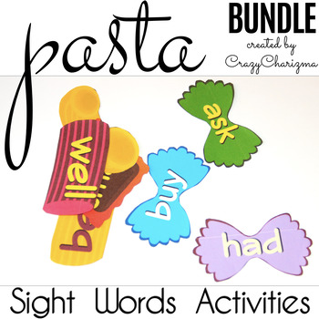 Sight Words Activities - Pasta {Bundle PK-3}
