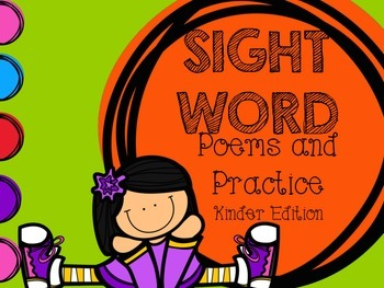 Sight Words Poems and Practice KINDER EDITION