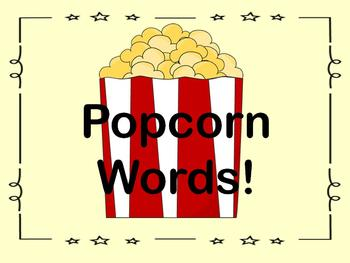 Sight Words - Popcorn Word POP! Game
