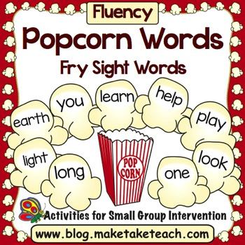 Sight Words - Popcorn Words Fry Sight Words