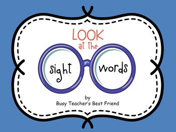 Sight Words PowerPoint Presentation and Flash Cards for Me