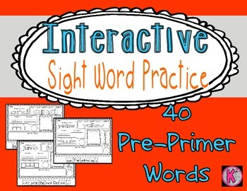 Sight Words- Pre-Primer- Interactive Practice