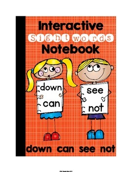 Sight Words Interactive Notebook Pre-Primer Set 5 (down, c