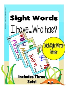 Sight Words Primer Level Dolch Word List - I Have... Who H