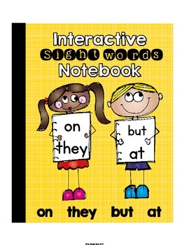 Sight Words Primer Set 2 Interactive Notebook (on, they, but, at)