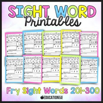 Sight Word Activities, Sight Word Practice