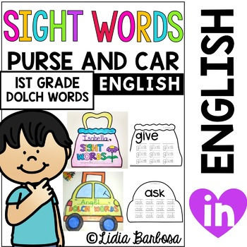 Sight Words on the Go- Purse and Carrying Case First Grade