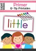 Sight Words Q-Tip Printables BUNDLE