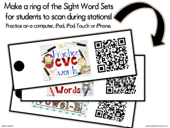 CVC, Blends, Vowel R... QR Code Links