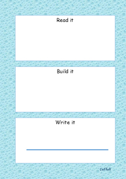 Sight Words Read it, Build it and Write it