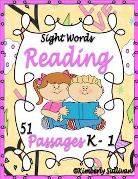 Sight Words Reading Kindergarten 51 passages
