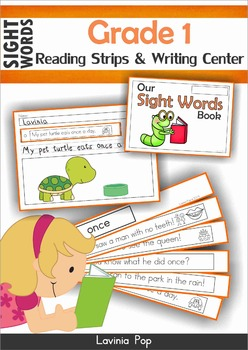 Sight Words Fluency Reading Strips and Writing Center (Gra