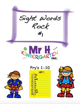 Fry's Sight Words Rock #1 (Fry's Sight Words 1-10) Full Ve