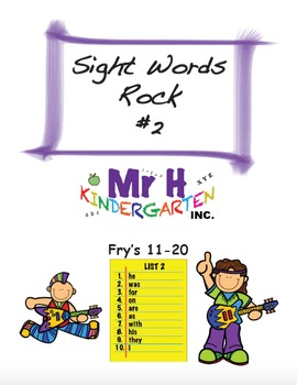 Fry's Sight Words Rock #2 (Fry's Sight Words 11-20)