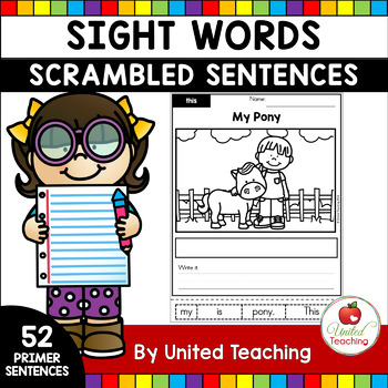 Sight Words Scrambled Sentences Primer Edition