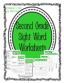 Sight Words - Second Grade - Worksheets & Interactive Notebooks