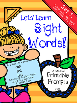 Sight Words {Set 1}- CAN,SEE,THE