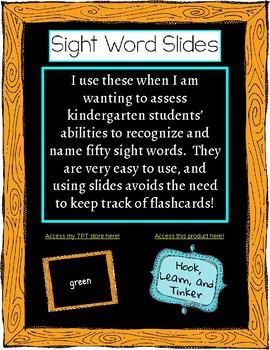 Sight Words Slides