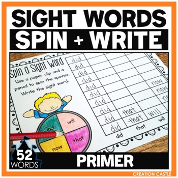 Sight Words - Spin a Sight Word - Primer