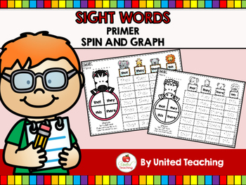 Sight Words Spin and Graph Primer Edition