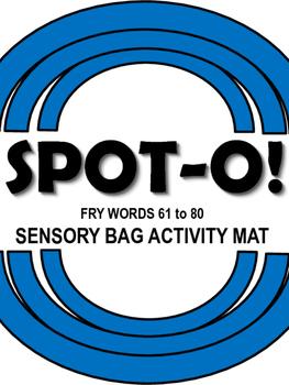Sight Words Spot-O! Fry Words 61 to 80 Sensory Bag Activity