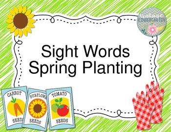 Sight Words Spring Planting