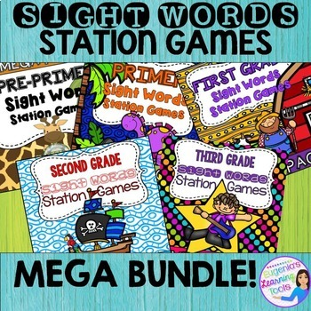 Sight Words Station Games BUNDLE