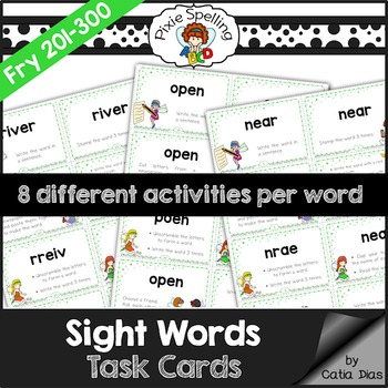 Sight Words Task Cards - Fry 201 to 300