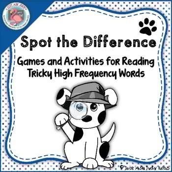 Sight Words Tricky Spot the Difference