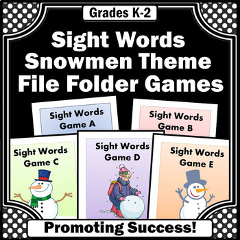 winter literacy reading sight words games