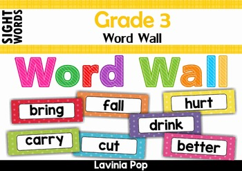 Sight Words Word Wall (Grade 3 Words)